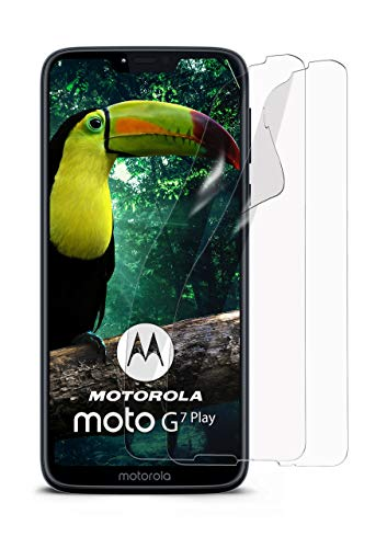 moex 2X Motorola Moto G7 Play | Schutzfolie Klar Bildschirm Schutz [Crystal-Clear] Screen Protector Display Handy-Folie Dünn Bildschirmschutz-Folie für Motorola Moto G7 Play Bildschirmfolie