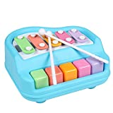#10: Flipzon Piano Musical Xylophone, Non Toxic, Non-battery, Learning and Development Toy - Blue