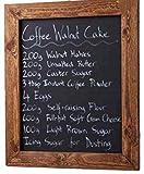 ELAFI  Magnetische Kreidetafel 20 x 30cm anthrazit schwarz | Schreibtafel zum Aufhängen A4 | Schiefertafel mit Rahmen | Magnettafel aus Kiefernholz | Wandtafel inkl. Jute Seil zum Aufhängen