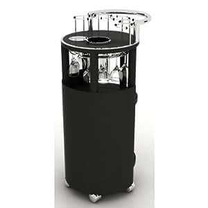 Wiserve : chariot mobile de service à vin - Idéal pour présenter jusqu' à 6 bouteilles de vin