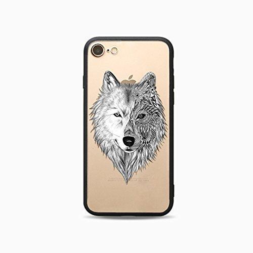 Coque iPhone 6 6s Housse étui-Case Transparent Liquid Crystal Les animaux en TPU Silicone Clair,Protection Ultra Mince Premium,Coque Prime pour iPhone 6 6s-Cheval-style 12 2