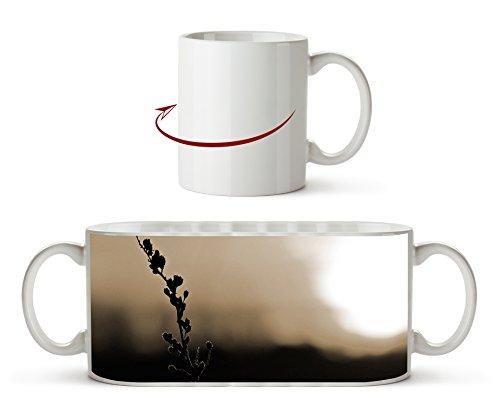 Romantischer Abendhimmel Effekt: Sepia als Motivetasse 300ml, aus Keramik weiß, wunderbar als Geschenkidee oder ihre neue Lieblingstasse. Wüste Pralinen