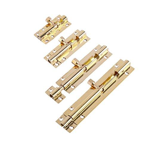 Messing Latch Lock Türschieber Catch Lock Innen Bolt Latch Barrel Lock für Badezimmer WC Schuppen Schlafzimmer 4 Größe(1.5Inch) -