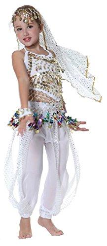 Seawhisper Mädchen Kinder Bauchtanz indianisch Tanzkostüme Halloween Karneval Kostüme Komplet