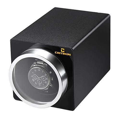 CRITIRON Automatischer Uhrenbeweger 1 Uhr Metall Uhrenbox Uhrendreher Watch Winder für eine Automatikuhr