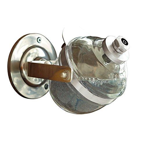Loberon Seifenspender Bailey, Messing/Glas, H/B/T ca. 17,5/11,5/12,5 cm, klar/Silber