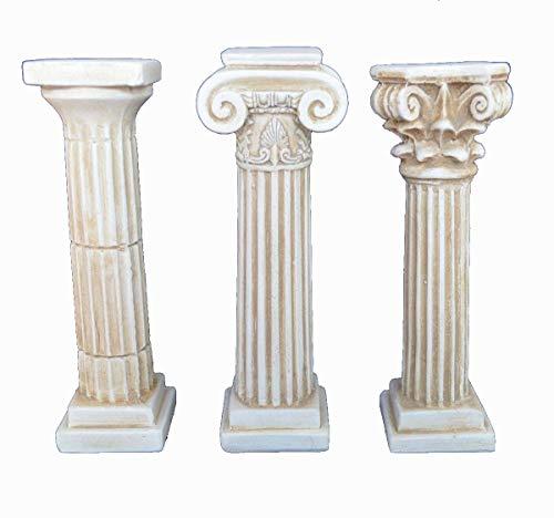 Estia Creations Juego de columnas pequeñas con el Texto en inglés Ancient Griego Doric Corinthian Ionic Order