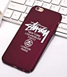 TN Cases Store Coque iPhone 7+ Plus et iPhone 8+ Plus Stussy Marque Supreme Rouge...