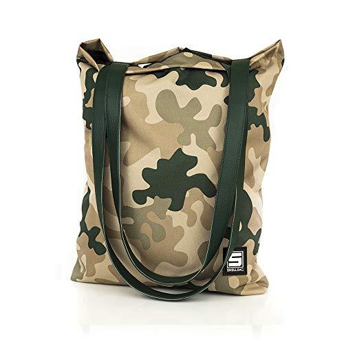Military Sahara Sun Collection Camo Bag/Camouflage camo Schultertasche/Tasche mit einem militärischen Musterund Ledergriffe /Umhängetasche aus Camouflage/Premium Quality Made in Europe 2018 Sahara Rucksack