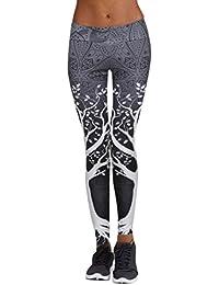 Atractivo Pantalones,Longra ★ Caliente Mujeres Deportes Gimnasio Entrenamiento de Yoga Mediados de Cintura Correr Pantalones Fitness Elástico Leggings (azul marino, L)