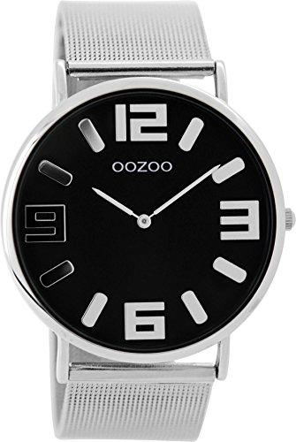 Oozoo Vintage Damenuhr Metallband 42 MM Schwarz/Silberfarben C8881