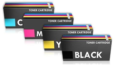 Prestige Cartridge C430/C480 Lot de 4 Cartouches de toner laser compatible pour Imprimante Samsung Xpress SL-C430W/SL-C480FW/SL-C480W/SL-C480FN - Couleurs Assorties