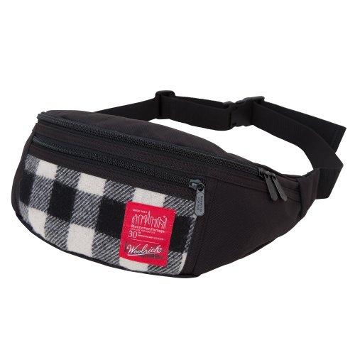 Manhattan Portage Woolrich Buffalo Check Alleycat Hüfttasche, Unisex, 1101-WLR WHT/BLK, weiß/schwarz, Einheitsgröße