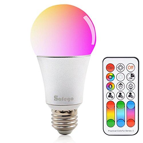 E26 RGBW LED Bombilla Cambio de Color Regulable Con Mando a Distancia 120 Múltiples Colores Iluminación Regulable Lámpara 85-265V Para Casa Fiesta Hotel