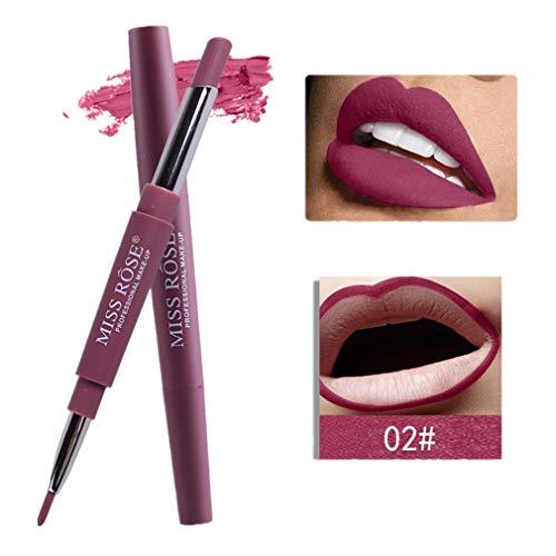 Tefamore Miss Rose Double-Fin Lining Durable Imperméable Lip Liner Stick Pencil 8 Couleur (B)