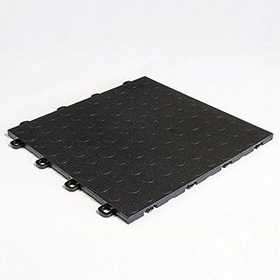BlockTile Garage Flooring Interlocking Coin Top Tiles - 30 Pack by BlockTile