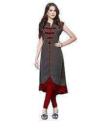 Vaankosh Fashion Women's Cotton Silk Kurti (vf-1098_Free Size Grey)