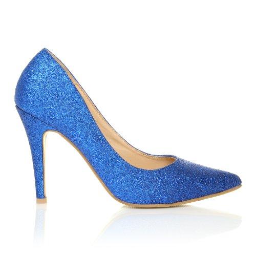 Darcy Scarpe Da Donna Blu Con Brillantini Tacco a Spillo Decolleté Blu con brillantini