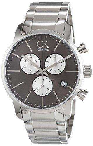 Calvin Klein - Reloj de Pulsera Hombre, Acero Inoxidable, Color Plateado