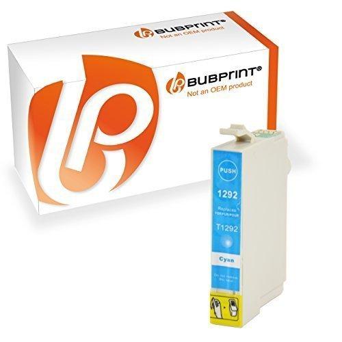 Bubprint Druckerpatrone kompatibel für Epson T1292 T 1292 Stylus SX435w SX 435 w SX420w SX 420w SX 445w WorkForce 630 WF 7515 3520 WF-7015 cyan