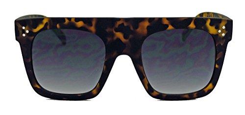 Herren Sonnenbrille im Designer Stil oversized Flat Top Modell SN27 (Matt Tortoise)