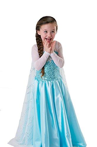 About Time Co Girls' Princess Snow Queen Fancy Dress (3-4 - Girls Snow Queen Kostüm