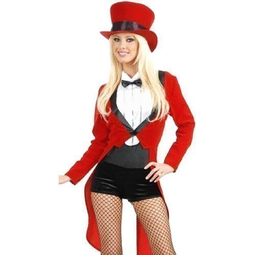 Damen - Zirkus Manege 4 Teiliges Kostüm