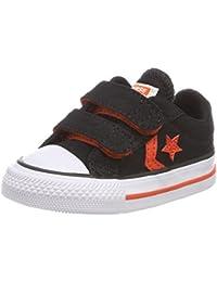 Converse Star Player Ev 2v OX Black/Gym Red/White, Zapatillas Unisex Niños