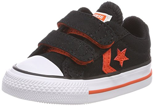 Converse Star Player EV 2v Ox Black/Gym Red/White, Baskets Mixte enfant