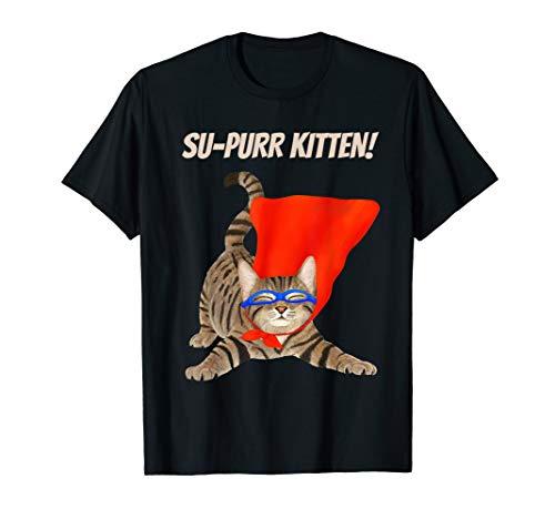 Su-purr Kätzchen - süße Superheldkatze T-Shirt