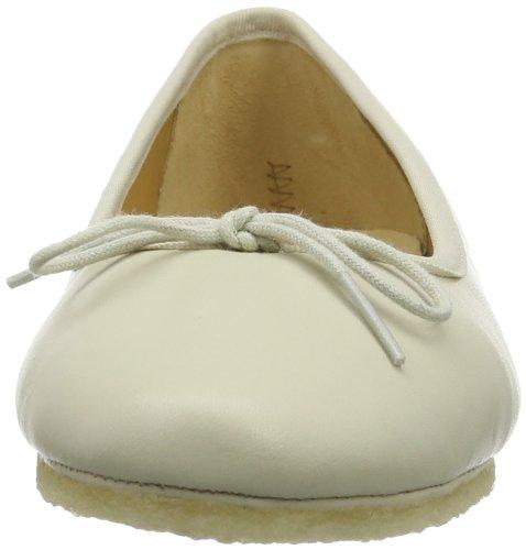 Clarks Originals Lia Grace, Ballerines femme Blanc (Cream Leather)