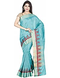 Classicate From The House Of The Chennai Silks Jute Saree (Ccrifa347_Vivid Green)