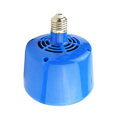 Climatiseur de réchauffeur d'animaux de 220v 3 LED pour le chauffage de poulets pour des porcs Réglable dans l'équipement de chauffage de trois vitesses 100W 200W 300W pour de petits animaux (la version améliorée est en bleu)