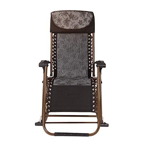Schwarz Klapp Schaukelstuhl Heavy Duty Patio Rocker, tragbarer Stuhl für Outdoor Garten Deck Rasen, Großeltern, Unterstützung 200kg -