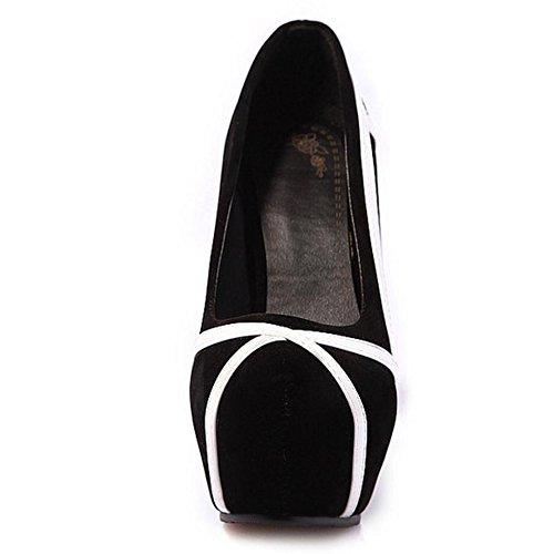TAOFFEN Damen Stiletto Schuhe Hochzeit Pumps Mit Plateau Weiß