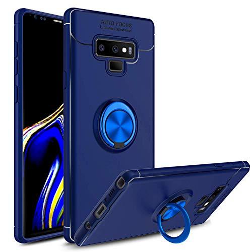 venoro Galaxy Note 9Fall, 360Grad drehbar Ring Ständer und Ring Halterung Ständer Magnetische Autohalterung Slim Soft Schutzhülle für Samsung Galaxy Note 9/sm-n960u, blau Sprint Samsung-handys