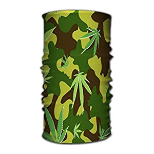 Stirnband Multi Function Magic Scarf Constructed with High Performance Rotating Illusion Tube Mask Cannabis cammo Camouflage Leaves eps CMYK global Colors Variegated