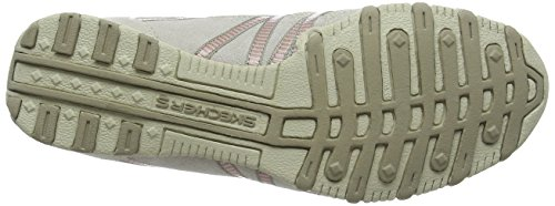 Skechers Bikers - Hot-ticket, Damen Ausbilder, Beige (Natural/taupe), 39.5 EU - 3