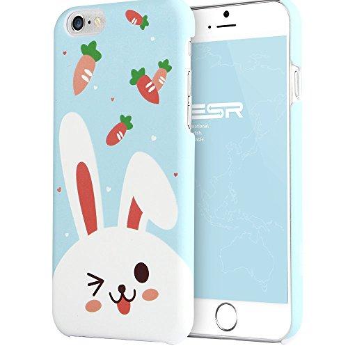 iPhone 6 Plus / 6S Plus Hülle, ESR® Illustrators Bildserie Hart PC Schutzhülle mit ästhetischen Muster Hülle für iPhone 6/6S (5,5 Zoll) (Gekritzel von Kangda Krakau) Süß Hase