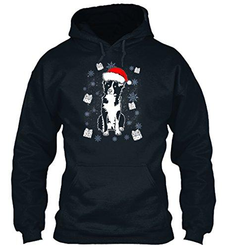 n / Herren / Unisex von Teespring | Originelles Outfit für jeden Anlass und lustige Geschenksidee - Border Collie Santa Christmas Gift Dog B (Lustige Santa-outfits)