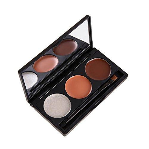 PhantomSky 3 Couleurs Palette de Maquillage Correcteur Camouflage Crème Cosmétique Set - Parfait pour une utilisation professionnelle et quotidienne
