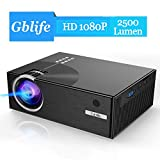 Mini Beamer, 2500 Lumens LCD Gblife Mini C7 1080p Full HD LED...