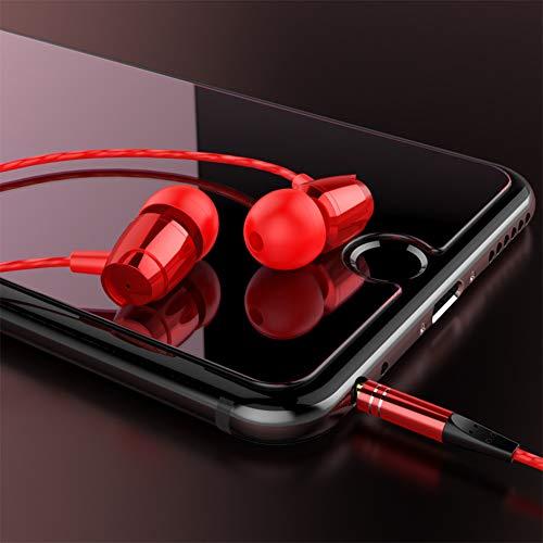 Laduup In-Ear Kopfhörer,3,5mm Klinke Geräuschisolation Kopfhörer für Handys PC Tablet