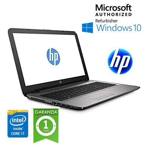 HP Notebook - 15-ay043nl (ENERGY STAR), Core i7-6500U Windows 10 HOME (Ricondizionato) )
