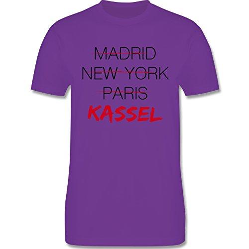 Städte - Weltstadt Kassel - Herren Premium T-Shirt Lila