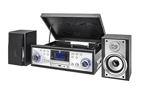 dual stereoanlage mit plattenspieler Dual NR 110 Kompaktanlage mit Schallplattenspieler (CD-Player, MP3, PLL-UKW-Radio, Riemenantrieb, 20 Senderspeicherplätze, Direct-Encoding, 3,5 MMM) schwarz