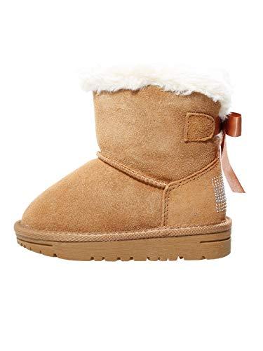 Tommy Hilfiger Kinder Boots Winter Stiefel Schuhe für Mädchen Lammfell Leder, Farbe:Braun, Größe:EUR 31