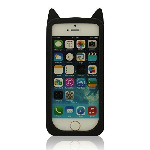 iPhone 5S Case, Filles Style, Dessin animé Style 3D Renard Modélisation Silicone Coque Étui de protection pour iPhone 5 5S 5C 5G, Coloré Soft & élastique Prime Silicone Cover Case + 1 Stylet Noir 1