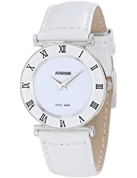 Jowissa J2.001.M - Reloj analógico de cuarzo para mujer con correa de piel, color blanco