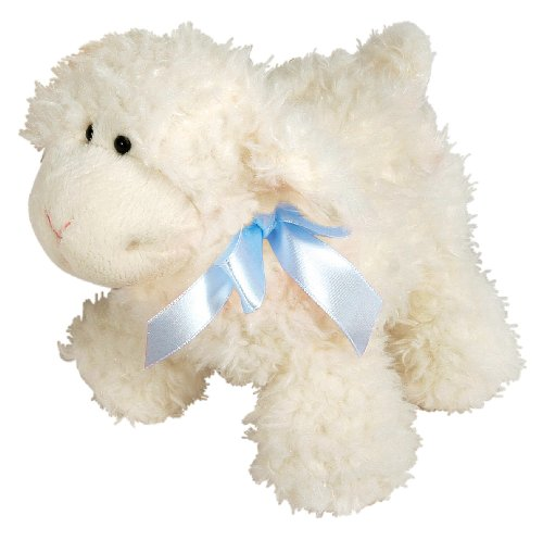 stephan-baby-ultra-soft-sherpa-plush-dimple-lamb-cream-with-blue-bow